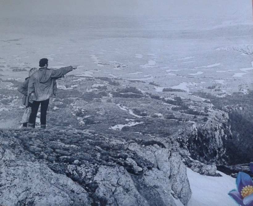 Активисты турклуба - обзор горной панорамы