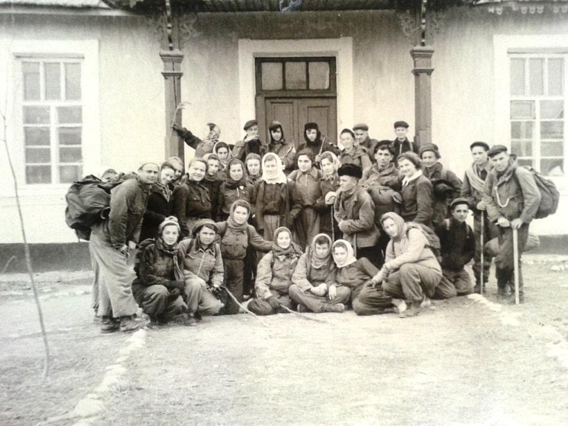 Группа туристов И. Когана - 1950/60 годы