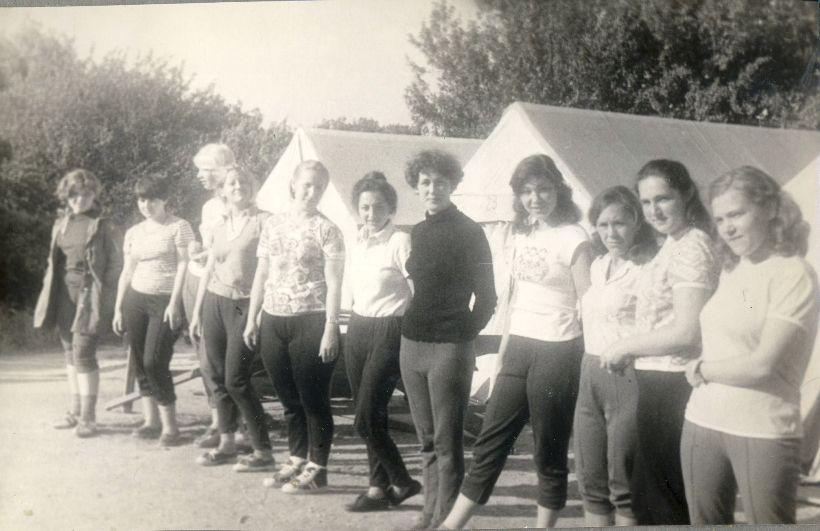 Женская группа на турстоянке
