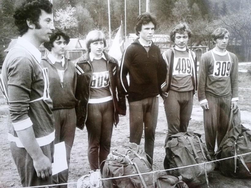 Команда на старте - Яремча 1978
