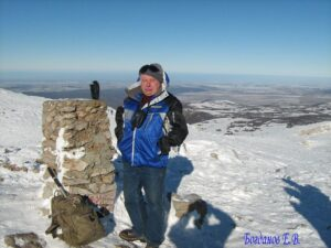 Евгений Богданов - на вершине Чатырдага Эклизи-Бурун 1527 м